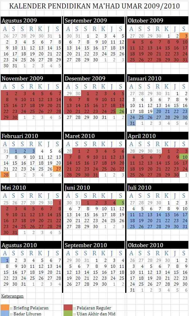 kalender akademik MU 1429-1430